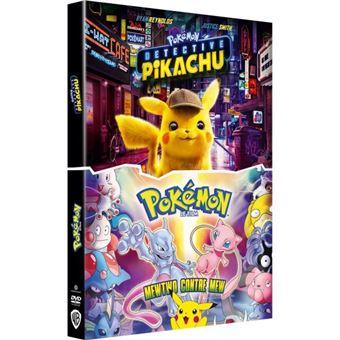 DVD : Détective Pikachu + Pokémon le Film : Mewtwo contre Mew