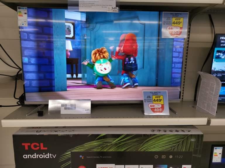 "TV 50"" TCL 50P715 - 4K UHD (Via ODR 44.90€ - Auchan V2 59)"