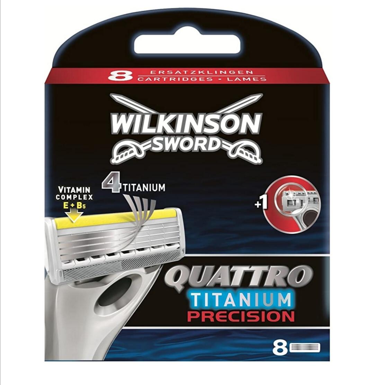 8 Lames Wilkinson Quattro titanium ou Manche à rasoir (via 13.46€ sur Carte Fidélité)
