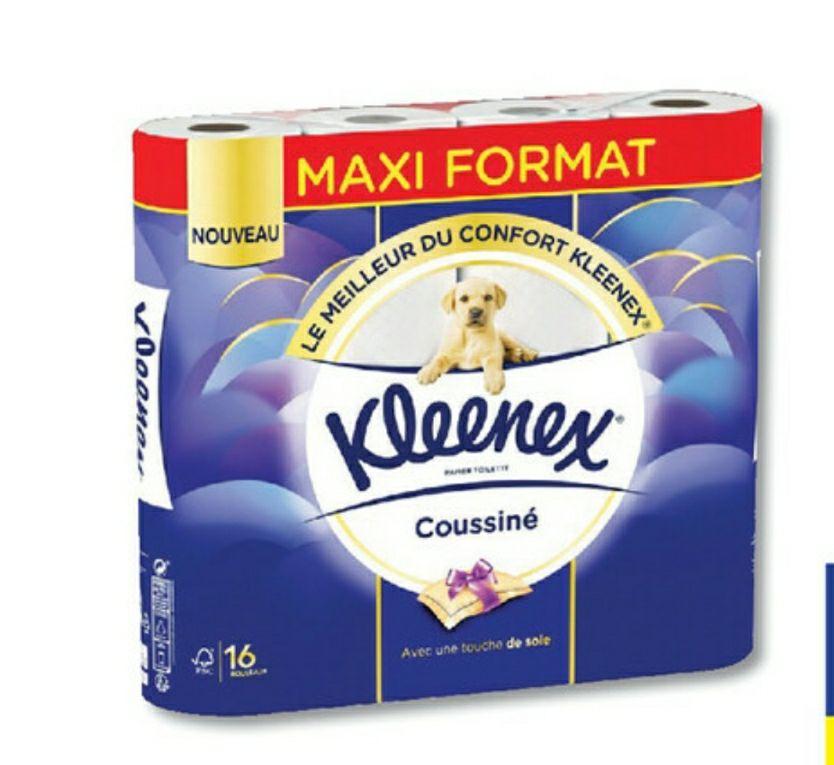 Paquet de 16 rouleaux de Papier toilette Kleenex (Via 4,89€ sur Carte Fidélité - Magasins participants)