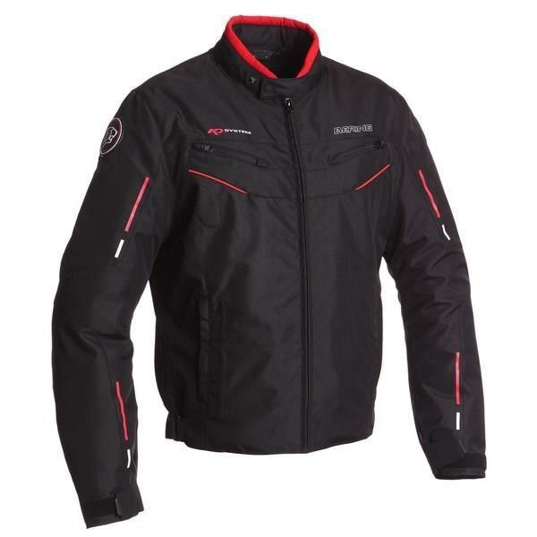 Blouson de moto Bering Corsaire - Noir/Rouge (Taille S et L)