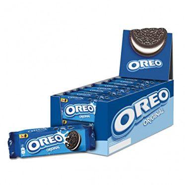 Présentoir de 20 paquets de 6 biscuits cacaoté fourré goût vanille Oreo - Format poche