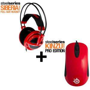 Steelseries Siberia V2 Red + Kinzu v2 Pro Red