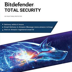 Logiciel antivirus Bitdefender Total Security sur PC - licence 3 postes, 3 ans (dématérialisé)