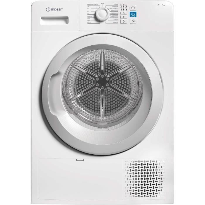 Sèche-linge Indesit YTM0871FR - Pompe à chaleur, 7 kg, Classe A+ (Blanc)