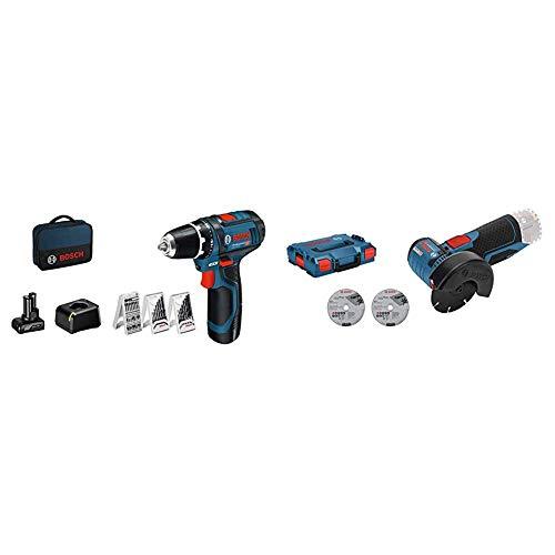 Pack d'outils Bosch Professional - Meuleuse d'angle GWS 12V-76 + Visseuse GSR 12V-15 + Accessoires