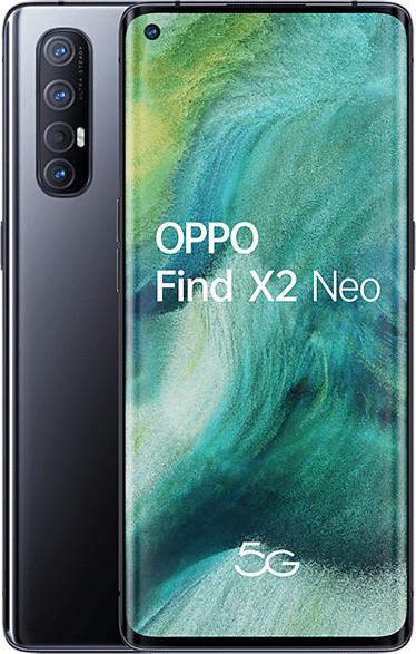 "Smartphone 6.5"" Oppo Find X2 Neo 5G - full HD+, SnapDragon 765G, 12 Go de RAM, 256 Go, noir (+ 30€ offerts en carte cadeau)"
