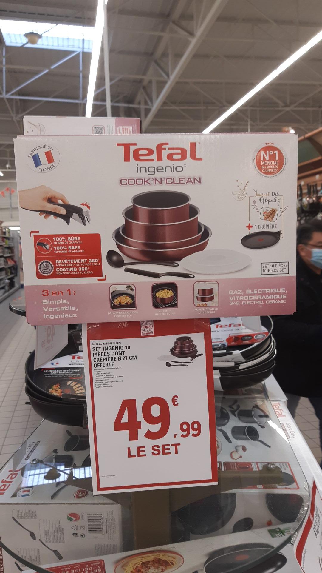 Batterie de cuisine 10 pièces Tefal Ingenio Cook'N'Clean - Ile de France