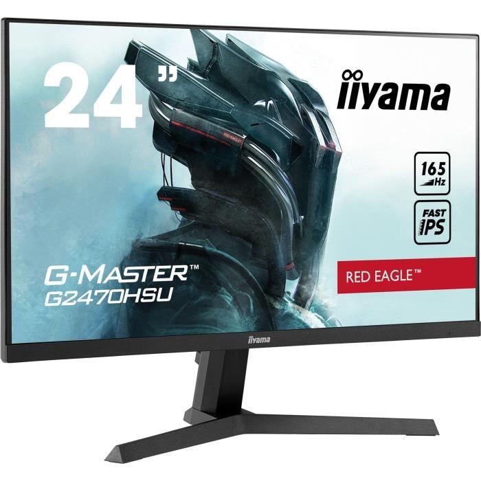 """Écran PC 23.8"""" Iiyama G-Master G2470HSU-B1 - full HD, LED IPS, 165Hz, 0.8 ms, FreeSync"""