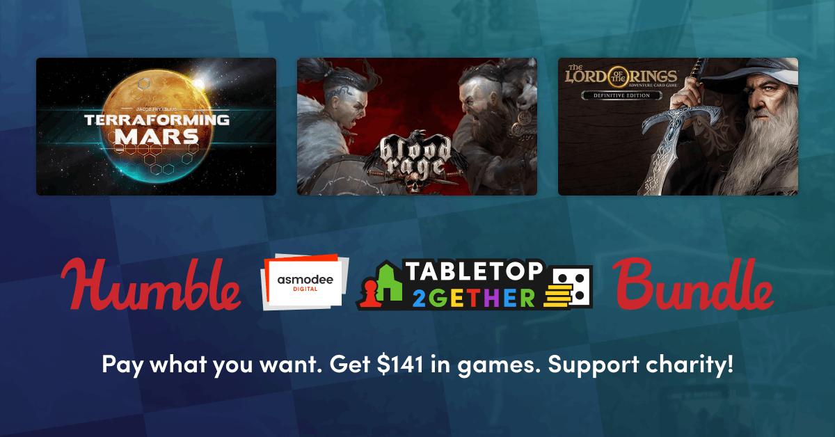 Humble Asmodee Digital Tabletop 2gether Bundle - 3 jeux + 2 DLC sur PC à partir de 1€ (Dématérialisé - Steam)