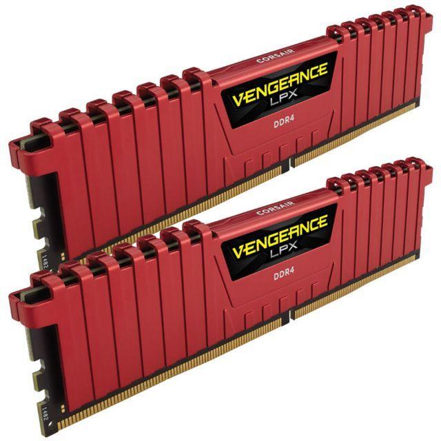 Kit mémoire Ram DDR4 Corsair Vengeance LPX 16 Go (2 x 8 Go) - 2400 MHz, Cas 14