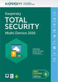 Licence Kaspersky Total Security 2016 5 Postes / 1 An