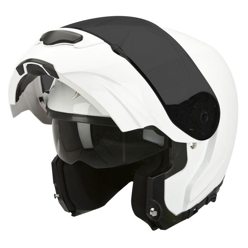 Casque Moto Modulable Scorpion Exo-3000 Air Blanc - Tailles au choix