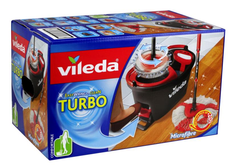 Balai Microfibre + Seau Vileda EasyWring & Clean Turbo