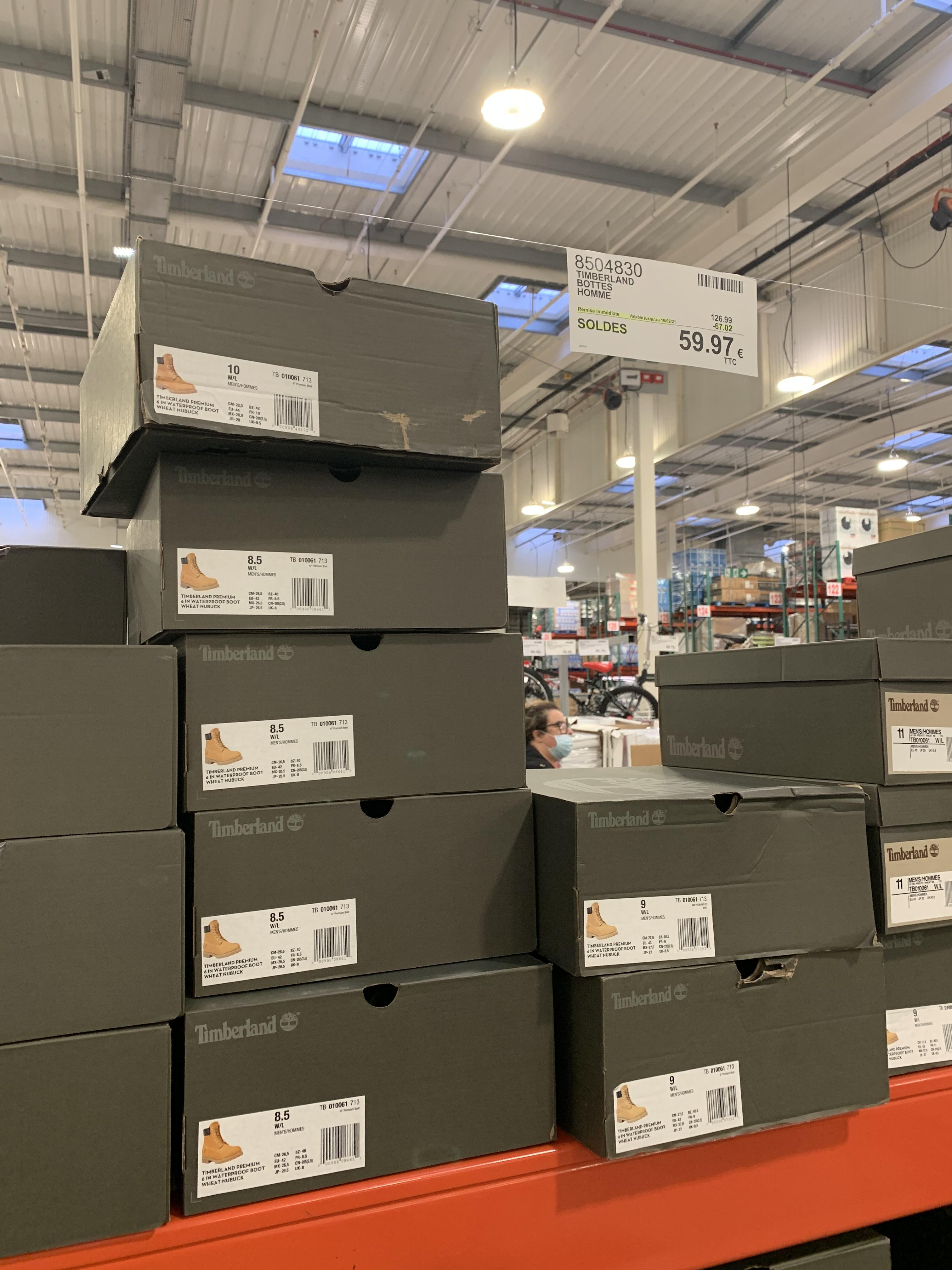 [Carte Costco] Chaussures Timberland Premium 6 In Boot - Wheat Nubuck (différentes tailles) - Villebon-sur-Yvette (91)