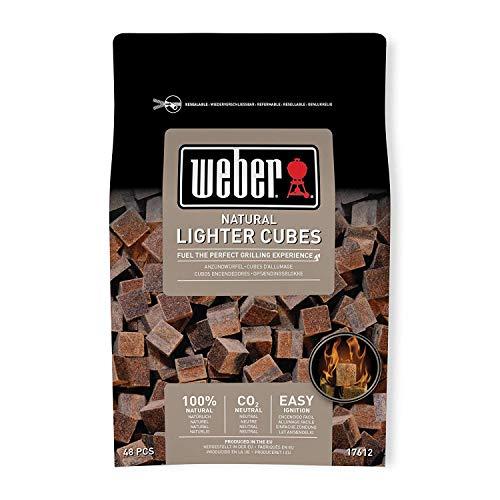 Paquet de 48 cubes allume-feux Weber - Bruns