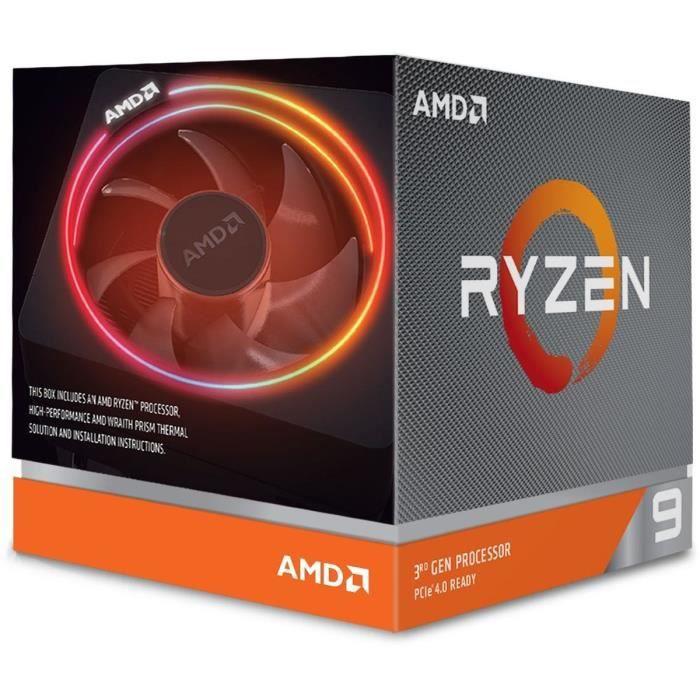 Processeur AMD Ryzen 9 3900X Wraith Prism cooler