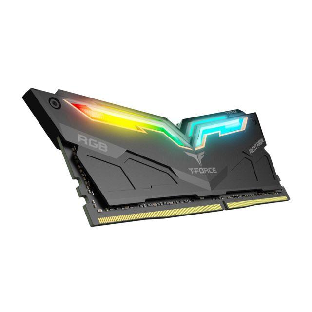 Kit Mémoire DDR4 T-Force Night Hawk (TF1D416G4000HC18EDC01) 16 Go (2x 8 Go) - 4000 MHz, CL18