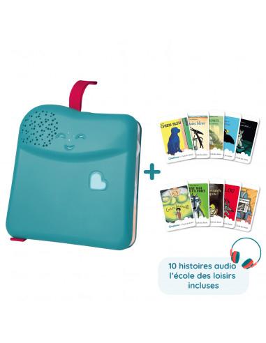 Pack liseuse Bookinou + Pack 10 histoires écoles des loisirs (mybookinou.com)