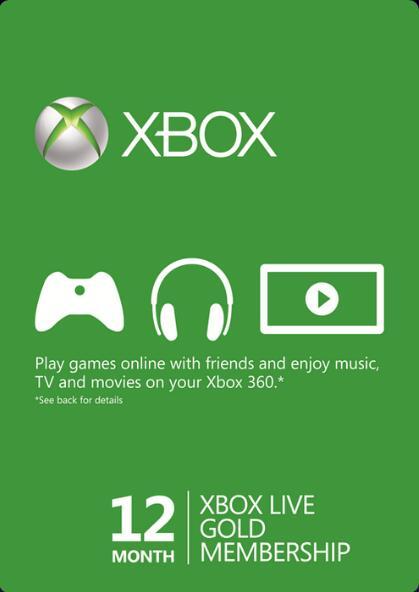 Abonnement Xbox Live Gold de 12 Mois (dématérialisé)