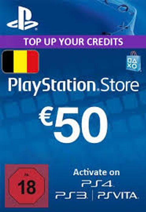 Carte PlayStation Store d'une valeur de 50€ (Dématérialisé - Compte Belge)