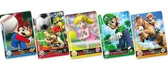 Pack de 5 Cartes Amiibo pour Jeu Mario Sports Superstar 3DS (Via retrait magasin)