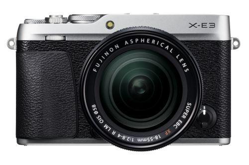 Appareil photo hybride Fujifilm X-E3 (argent) + Objectif XF 18-55 mm