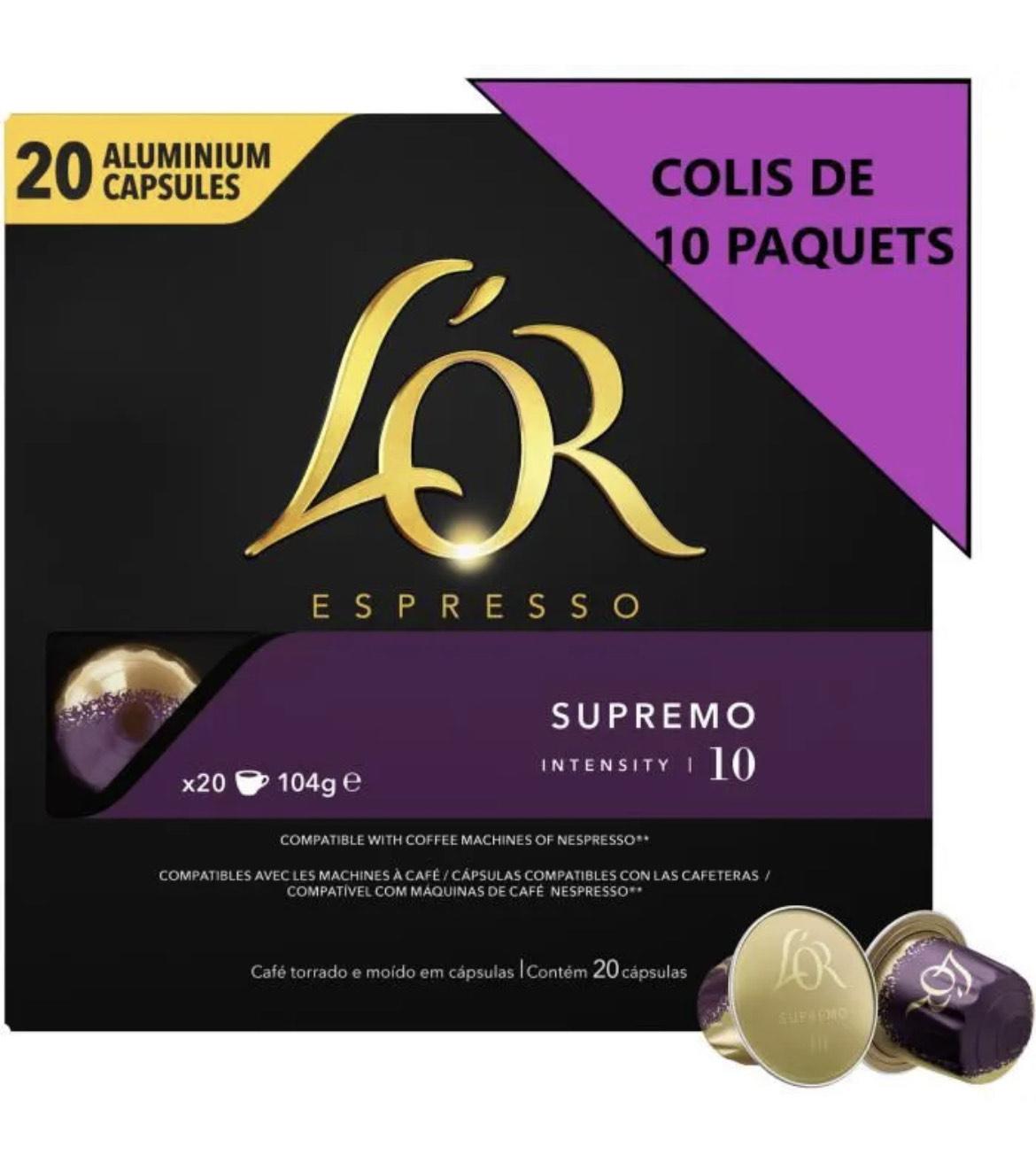 200 capsules de cafés L'Or Espresso Supremo - Intensité 11