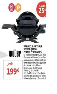 Barbecue à gaz Weber Q 1200 (Frontaliers Luxembourg)