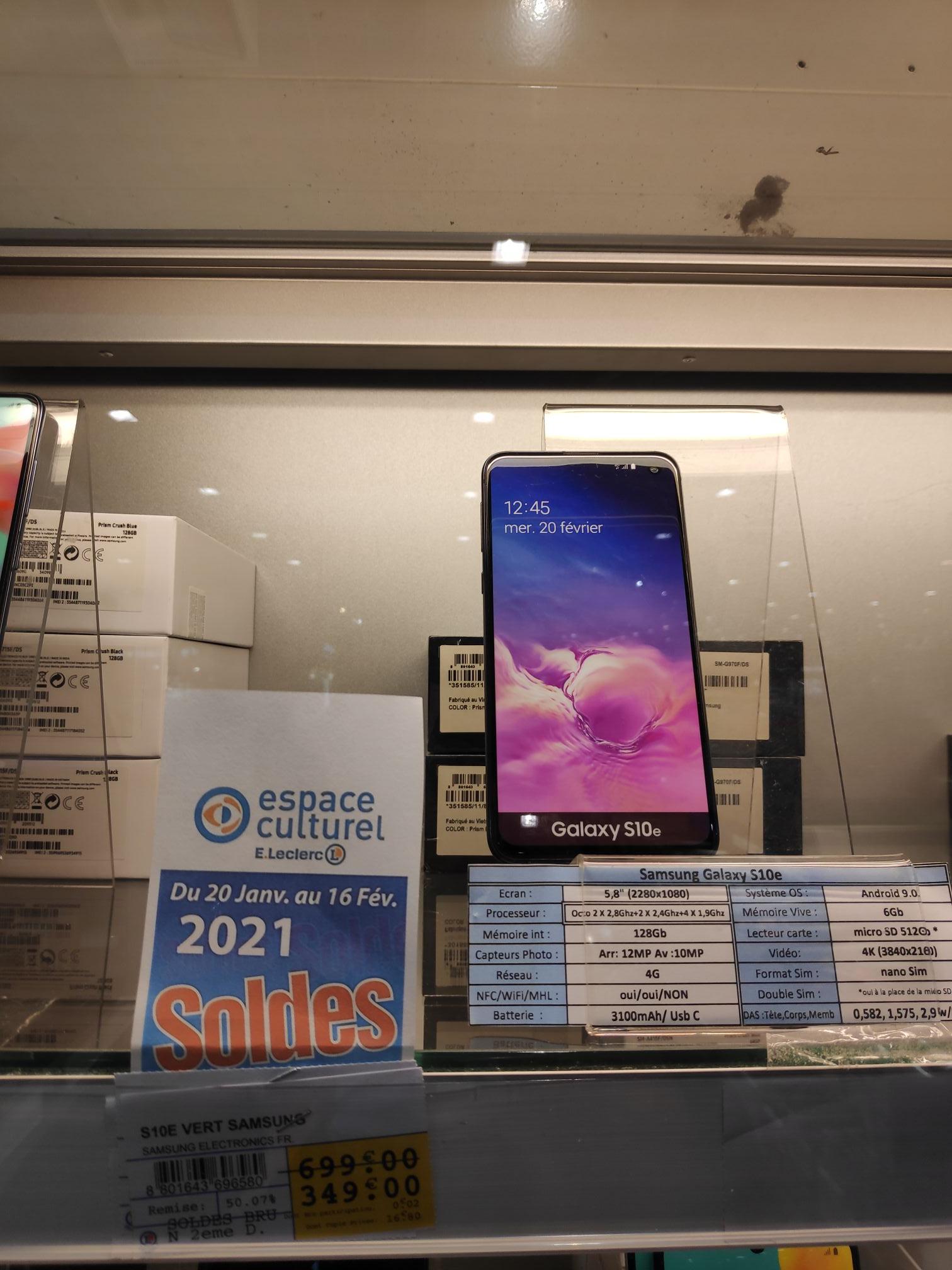 "Samsung Galaxy 5.8"" S10e 128 Go/ 6 Go Amoled (Oise - Chambly)"