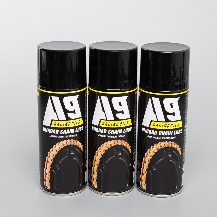 3 lubrifiants pour chaînes de moto A9 Racing Oils (Limité à une commande)