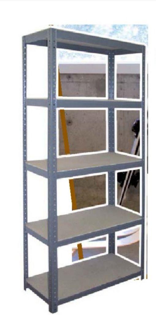 Étagère métallique charge lourde 5 plateaux 180x75x30cm