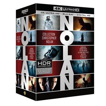 Coffret Christopher Nolan Blu-ray 4K Ultra HD (Frontaliers Belgique)