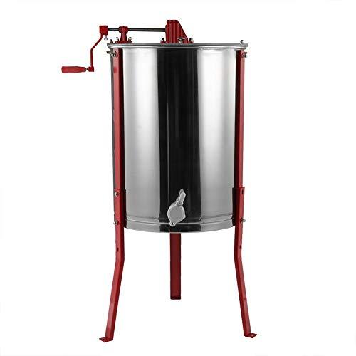 Extracteur de miel manuel Zerone - acier inoxydable, 4 cadres (Vendeur tiers)