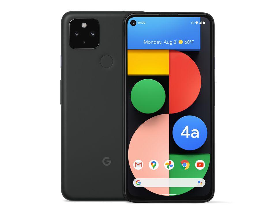 """Smartphone 6.2"""" Google Pixel 4a 5G - 128 Go, Simplement Noir (-50€ via ODR Bouygues)"""
