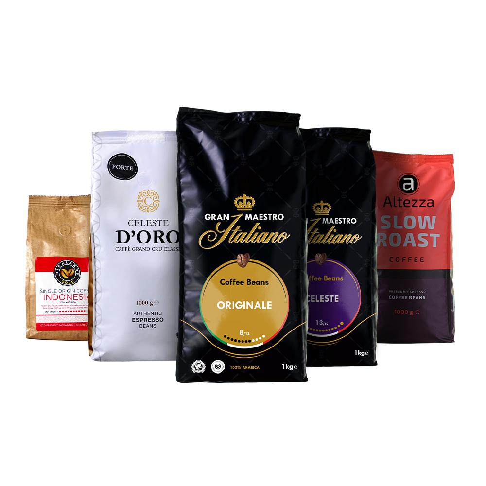 Coffret Puissant café en grain - 4,25 kg (cafebonmarche.fr)