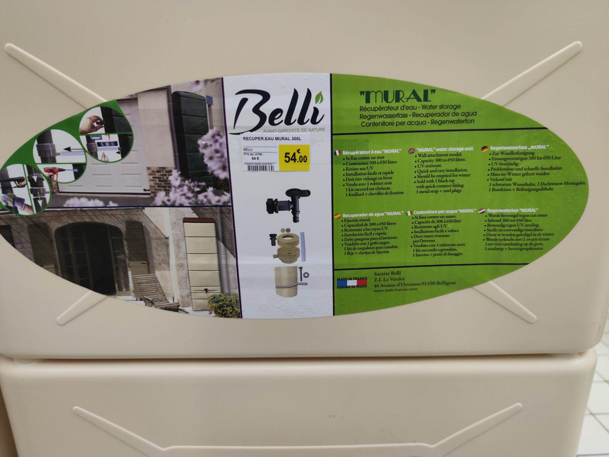 Récupérateur d'eau Belli (300L) - Andrézieux (42)