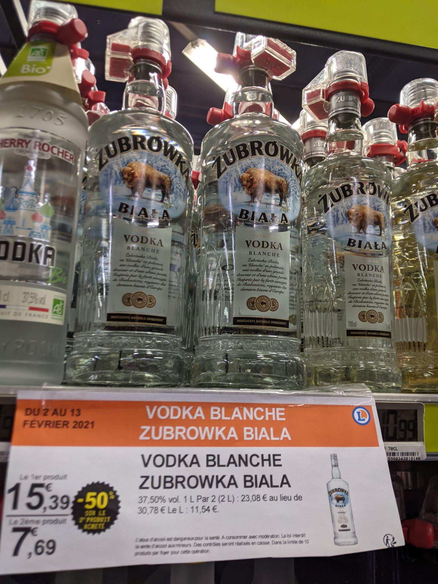 Lot de 2 Bouteilles de Vodka Zobrowka Biala (70 cl) - Strasbourg (67)