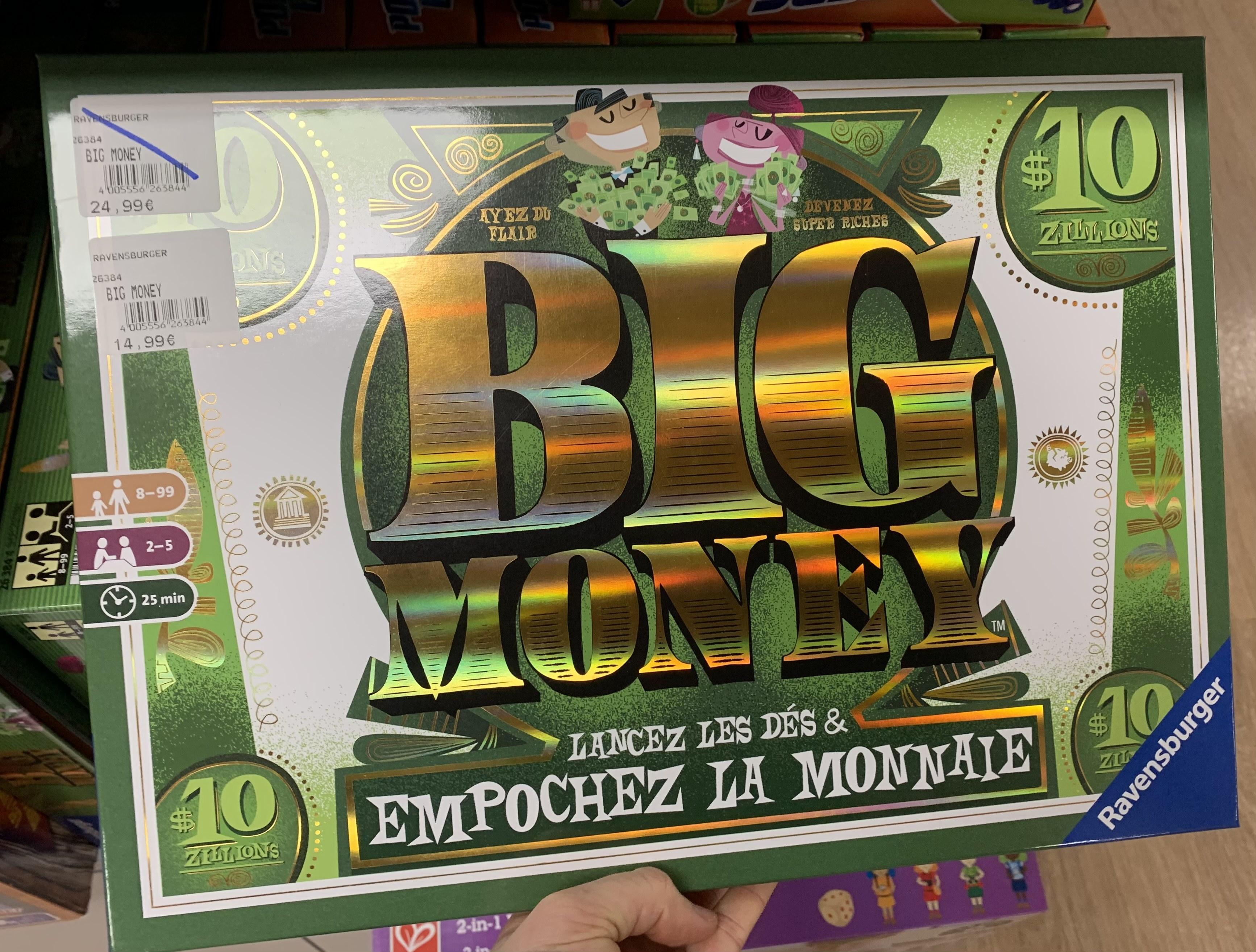 Jeu de société Big Money - JouéClub Niort (79)