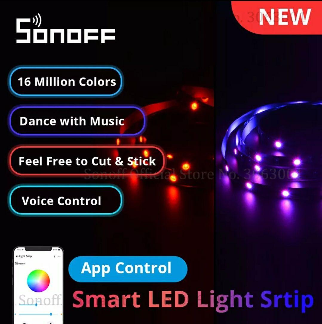 Ruban LED Sonoff L1 Lite - 5M, WiFi + Télécommande compatible Google Home / Alexa