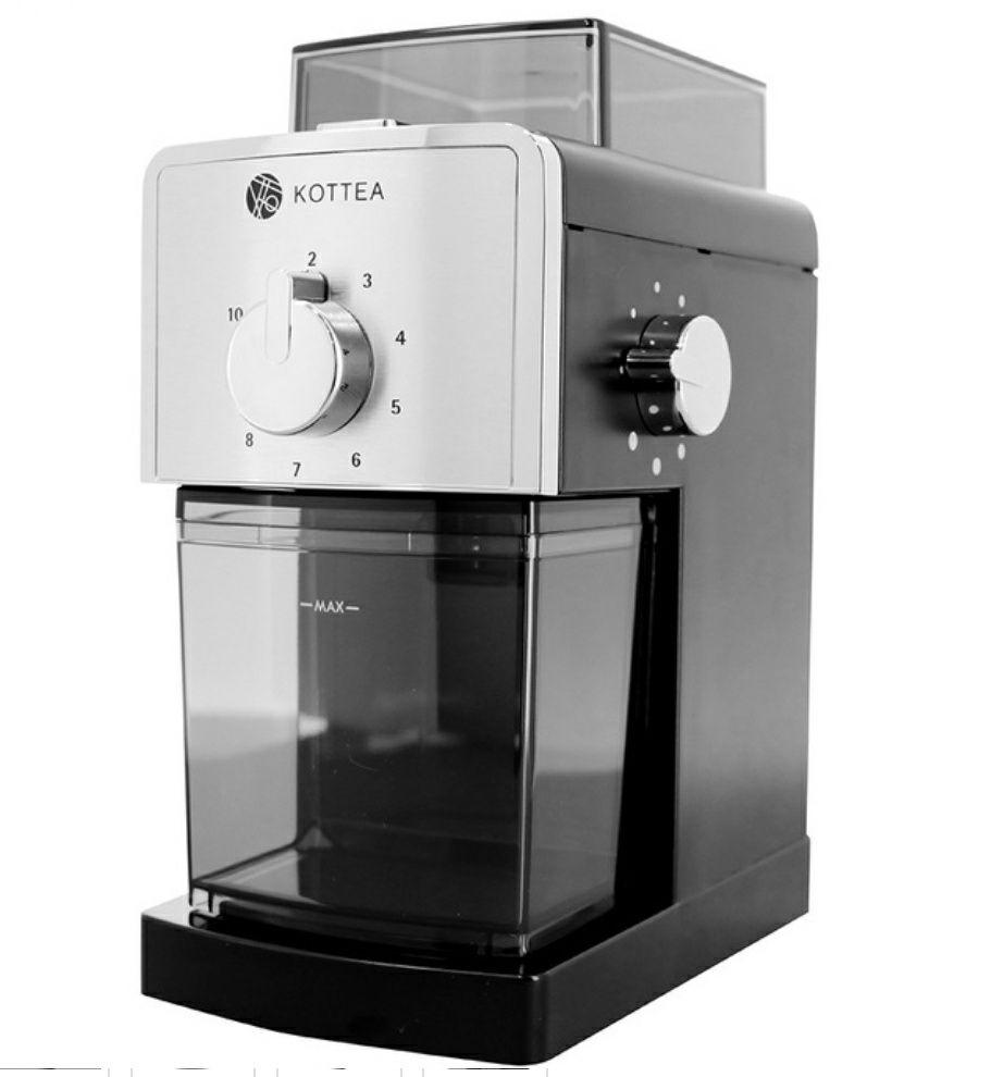 Moulin à café électrique Kottea CK404B noir (+ 250g de Café en grain Lugat mélange maison)