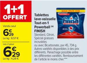 Lot de 2 paquets de 45 tablettes lave-vaisselle Finish PowerBall Tout-en-1 Max