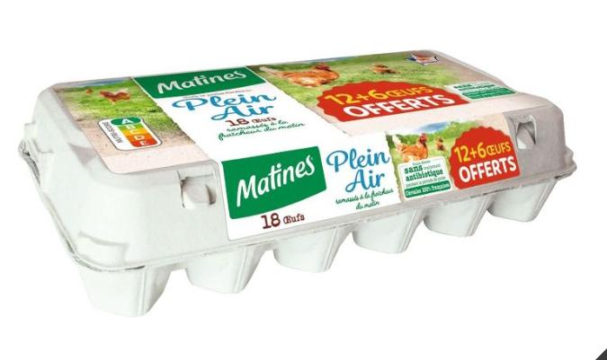 Boîte de 18 œufs Matine Plein Air
