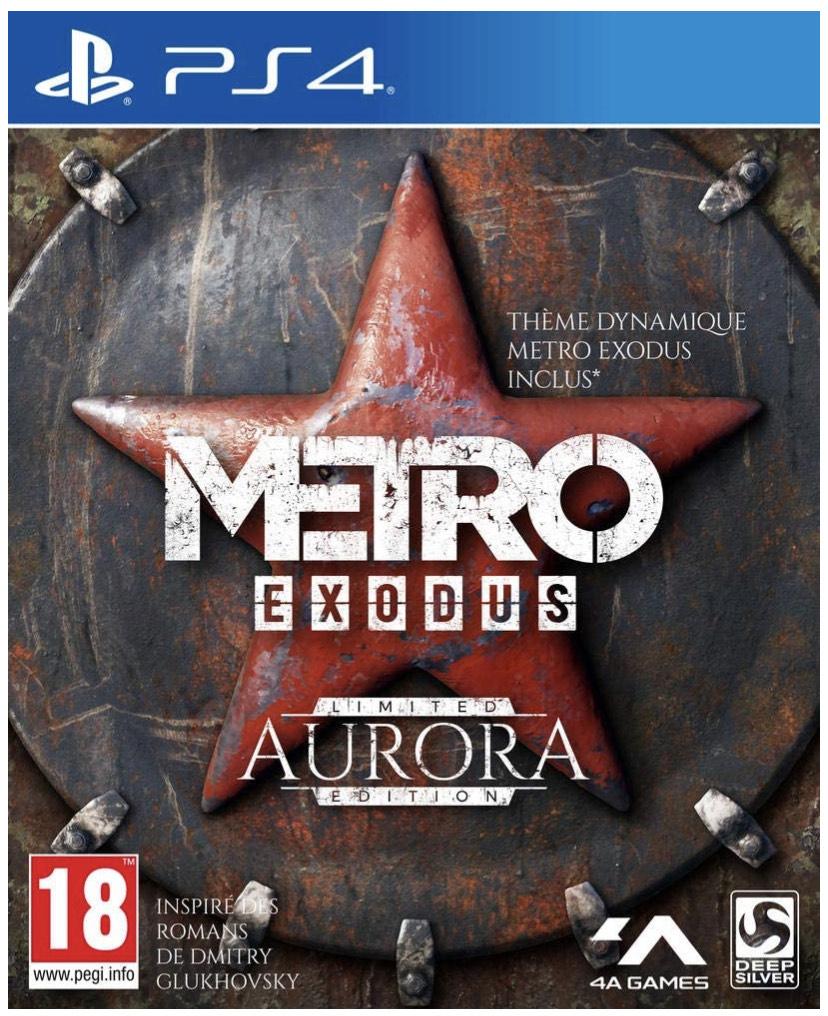 Metro Exodus Edition Limitée Aurora sur PS4 (vendeur tiers)