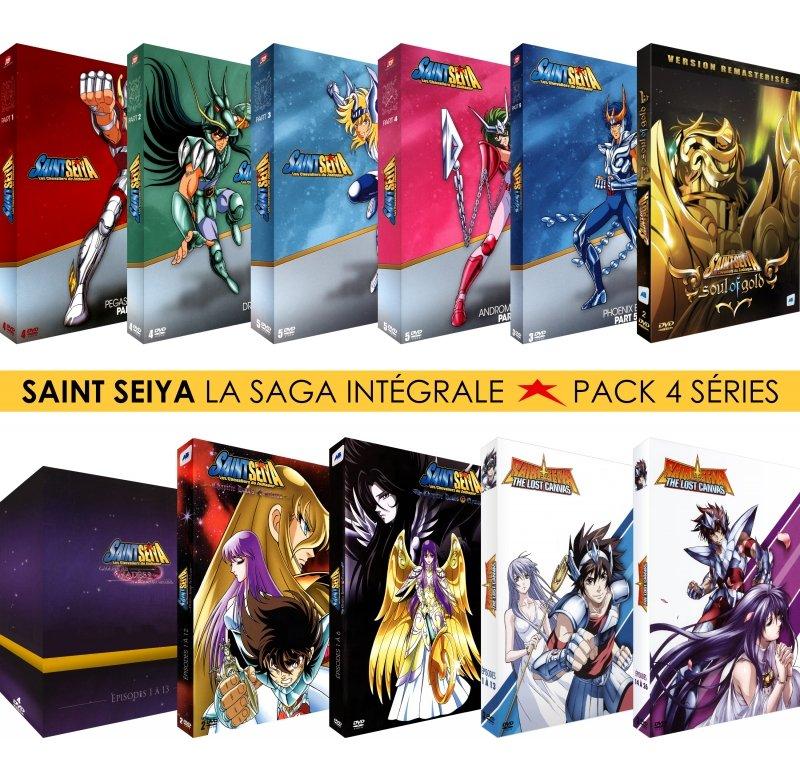 Sélection de coffrets DVD en promotion - Ex: Coffret 11 DVD Intégrale des Saint Seiya - Série TV + Hadès + Soul of Gold + Lost Canvas