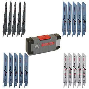 20 Lames de scie sabre Bosch Professional + Toughbox