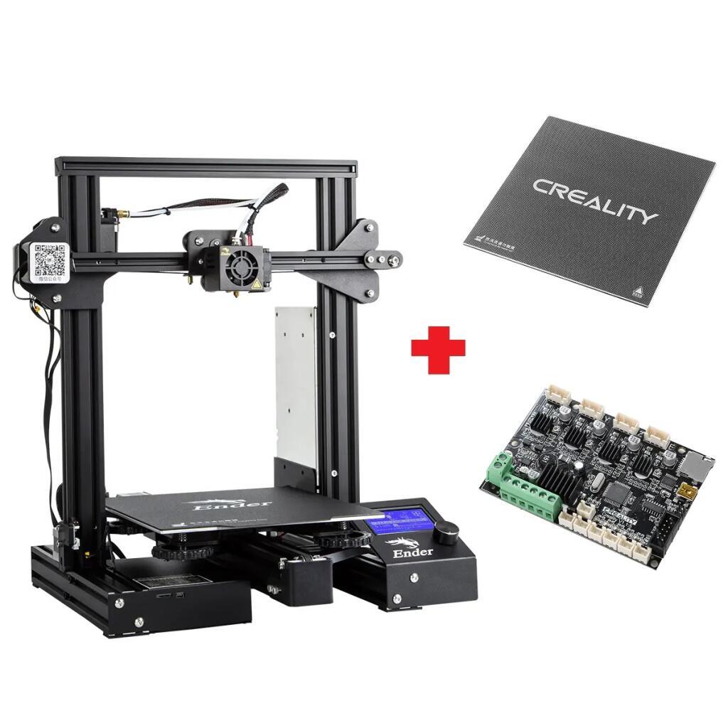 Imprimante 3D Creality 3D Ender 3Xs Pro - 220 x 220 x 250 mm + Accessoires & Carte mère super silencieuse V1.1.5 (Entrepôt EU)