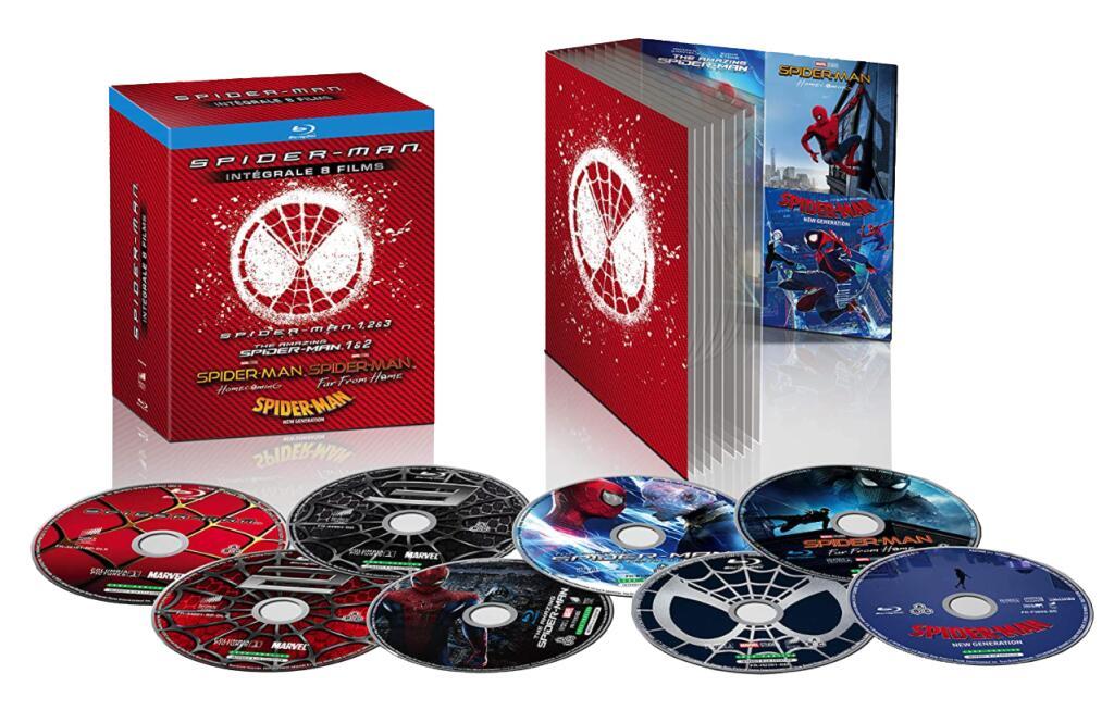 Sélection de Blu-ray en promotion - Ex: Coffret Spider-Man 8 Films