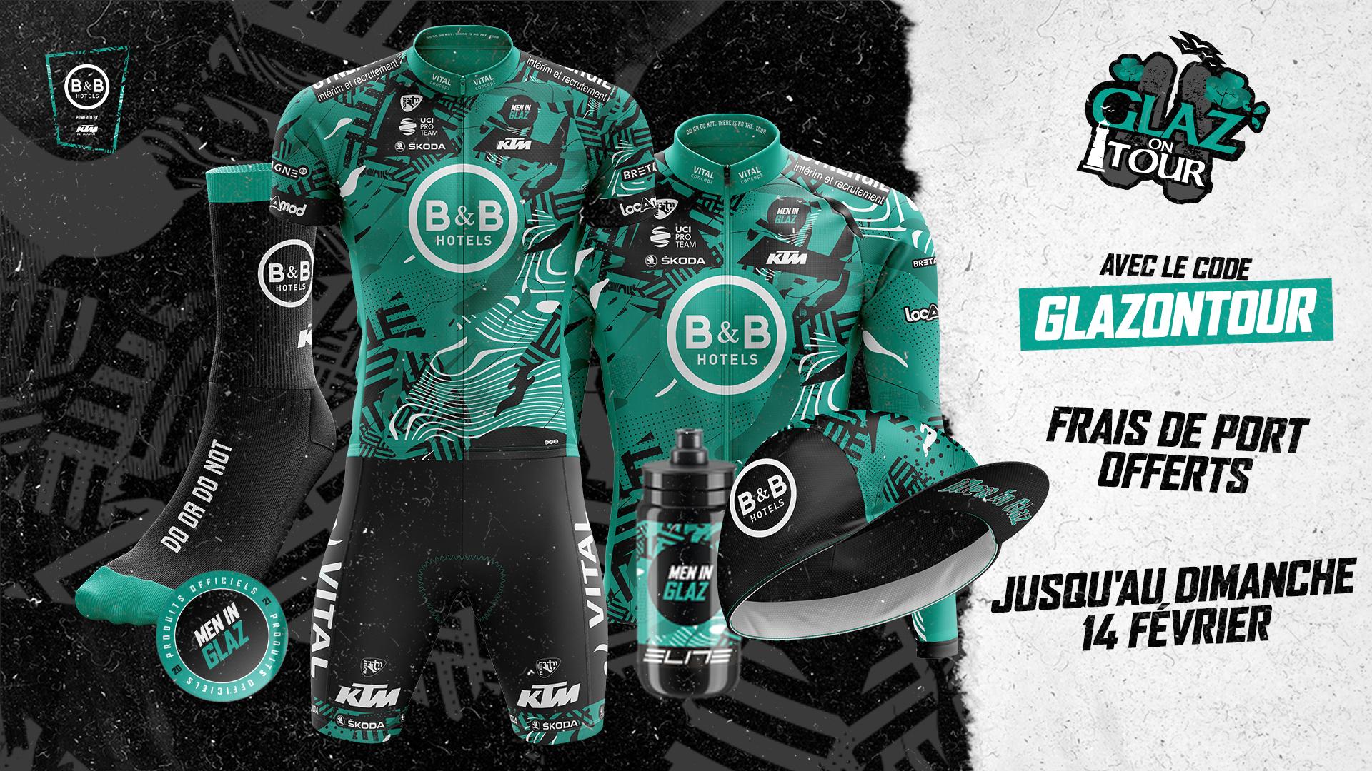 Frais de port offerts sur l'ensemble de la boutique de l'équipe cycliste B&B Hotels P/B KTM (bbhotels-cycling.bzh)