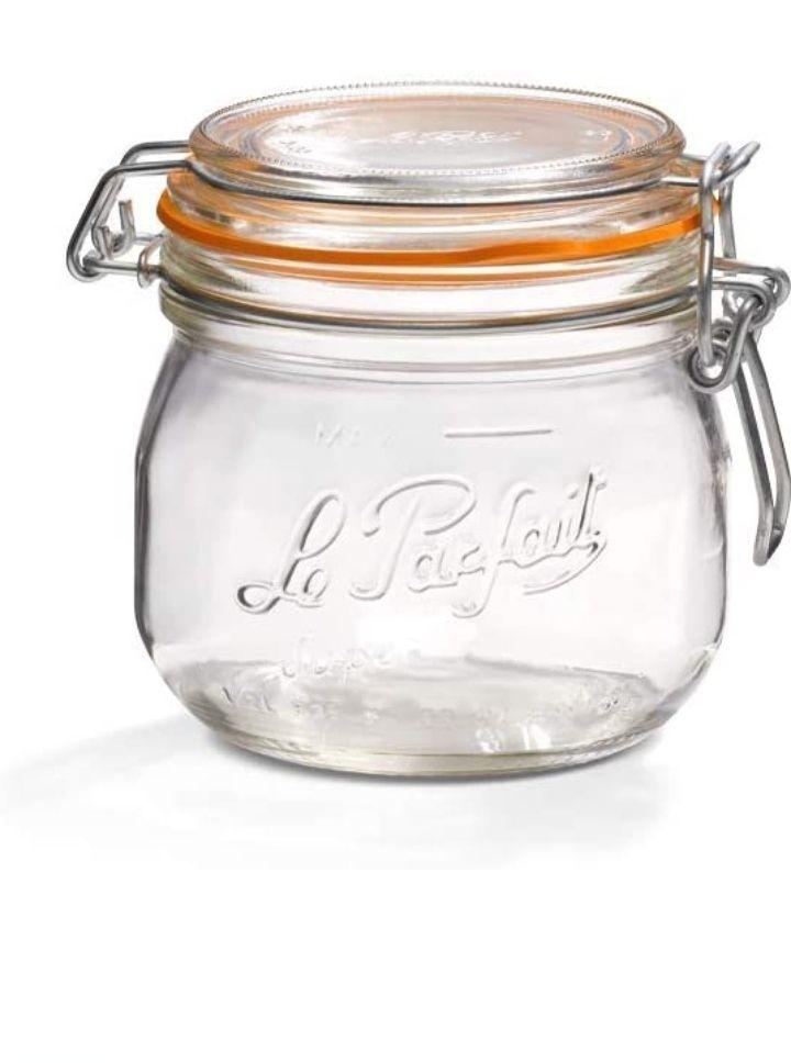 Lot de 6 bocaux en verre Le Parfait - 0.5 L